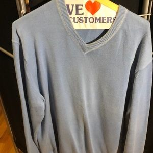Calvin Klein powder blue V-neck sweater